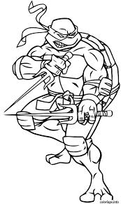 Coloriage Tortue Ninja Gratuit