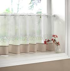 Artwork Of Half Window Curtains Ideas