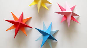 DIY Hanging Paper 3d Star Tutorial For Christmas Birthday Party Decorations
