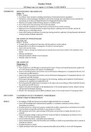 Cover Letter HR Assistant Resume Samples