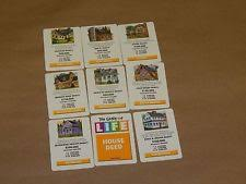 New Listing2005 LIFE BOARD GAME REPLACEMENT PIECE HOUSE DEED CARDS