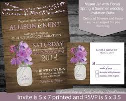 Rustic Mason Jar Country Wedding Invitations By NotedOccasions 3500