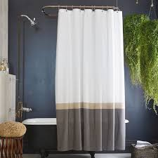 Slate Horizon Stripe Shower Curtain