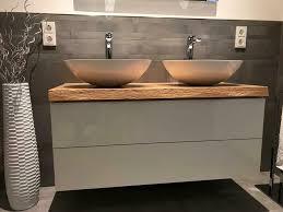 waschtisch platte für unterschrank ikea eiche massiv holz bad wc