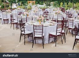 Broad View Outdoor Wedding Reception Empty | Food And Drink ...