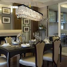 Cool Dining Room Chandeliers Modern Rectangle Decolover Net