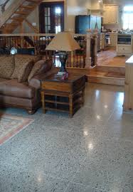 Family room floor with ra nt heat and tile patterned sawcuts