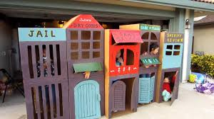 Cardboard Box Houses For Kids Cool Homemade Kid Sized Town YouTube