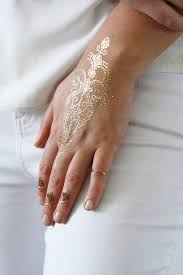 Delicate Gold Henna Temporary Tattoos