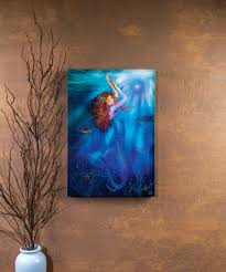Fiber Optic Pumpkin For Sale by Lighted Fiber Optic Mermaid Picture Radiance Lighted Canvas