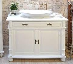 großer waschtisch massivholz waschbeckenunterschrank mit waschbecken landhaus nostalgie badmöbel rustikal shabby chic