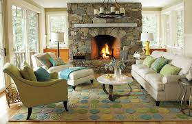 Traditional Living Room Ideas With Stone Fireplace Designing The Decorating Within Budget