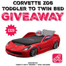 step2 corvette z06 toddler to twin bed giveaway miss frugal mommy