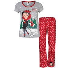 Betty Boop Bath Set by Betty Boop Women U0027s Walking Dog Pyjama Set Red U0026 Grey Marl