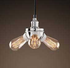 bare bulb filament pendant polished nickel utility