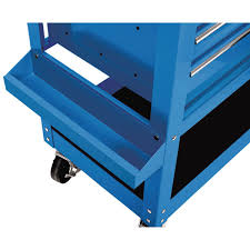 100 Service Truck Tool Drawers 30 In 5 Drawer Blue Mechanics Cart