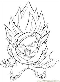 Dragon Ball Z Coloring Pages Online For Kids