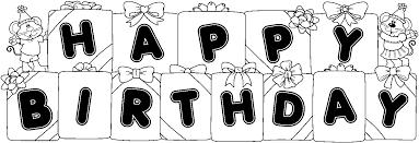 Happy birthday black and white birthday black and white happy birthday cake clip art