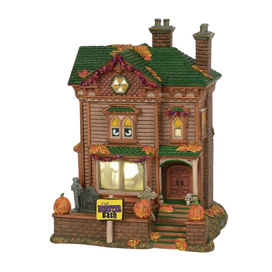 Department 56 House Monster Mash Party House Halloween Decor - Ceramic
