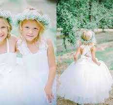 lovely tulle lace white flower girl dress cross products