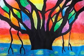 Art Paper Scissors Glue Blazing Banyan Tree