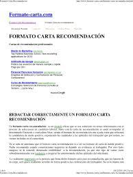 Modelo Carta De Recomendacion Lexutk