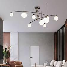 glas hängeleuchte modern kugel design 6 9 flammig für wohnzimmer