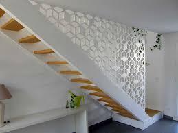 claustra design sous forme de garde corps d escalier aménagement