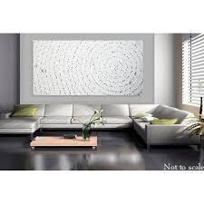 acrylbild auf leinwand acrylbild abstrakt bild weiß