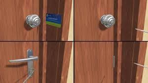comment ouvrir une porte de chambre sans clé comment ouvrir une porte fermée à clef 11 é
