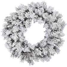 Unlit Artificial Christmas Trees Target by Flocked Snow Ridge Wreath Vck4029
