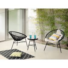Garden Furniture - Patio Set - Outdoor Bistro Set - Table And 2 Chairs -  Black - ACAPULCO Melltorp Teodores Table And 2 Chairs White Bright Orange Hgg Ding Set With Chairs Rubberwood Fniture Small Kitchen Extending And Dimeions Room Spaces For Tables Lpd Monroe High Gloss In Black Wine Barrel Bistro Two Stunning White Argos Ikea Ps 2012 Bamboo Saddle Brown 3piece Microfiber Latt Kids Chair X New Flat Interior Decorative Wall Effect Small Table Two Table2 Outdoor Askholmen Grey Greybrown Stained Brown