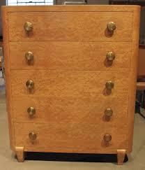 Antique Birdseye Maple Dresser With Mirror by Art Deco Style Bird U0027s Eye Maple Five Drawer Tall Dresser For Sale