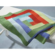 Valley Yarns 394 Hill Crocheted Log Cabin Blanket at WEBS