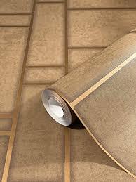 tapete kupfer gold hell mit linien vliestapete für