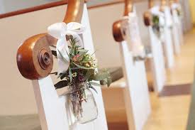 Rustic Floral Church Pew Aisle Decor Vintage New England Wedding Dreamlove Photography
