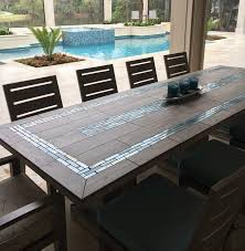 river mosaic tile table top ideas for beautiful outdoor
