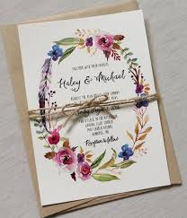 Boho Chic Wedding Invitation Floral