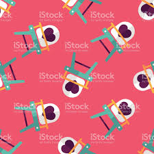 100 High Chair Pattern Baby Flat Iconeps10 Seamless Background Stock