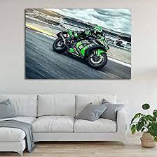 li han shop leinwandbilder grün superbike kawasakis