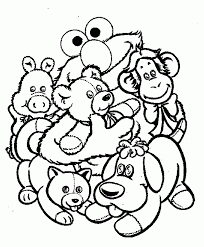 Coloring Elmo Pages 181