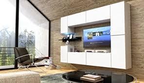future 13 wohnwand anbauwand möbel set wohnzimmer schrank wohnzimmerschrank matt weiß schwarz led rgb beleuchtung front matt weiß korpus matt