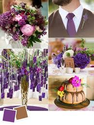 Grape And Walnut Fall Wedding Color Ideas