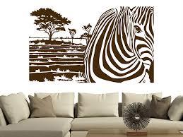 wandtattoo zebra banner mit landschaft wandtattoo de