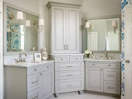 Diy L Shaped Bathroom Vanity by Beautiful Bathroom Features Gray His And Hers Vanities Topped With