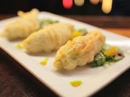 Fried Pumpkin Blossoms by Goat Cheese Stuffed Squash Blossoms Recipes Cooking Channel