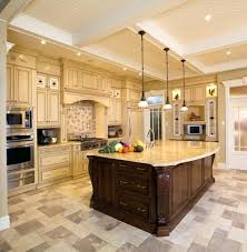 Kitchen Floor Tile Ideas With Cream Cabinets Flooring Marble Under Wide