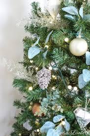 Simple Rustic Christmas Tree At LionAndLantern Farmhouse DIY Decor