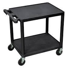 Luxor Adjustable Height Drop Leaf Computer Cart