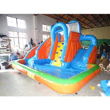 Factory High Quality PVC Inflatable Bouncer Jumping Wiht Water Slide Pool For Kids And Adult